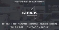 canvas html5 template
