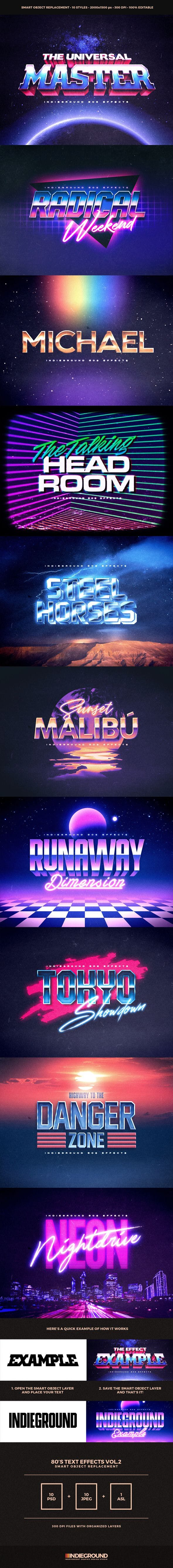 80s Text Effects Vol.2 - 1