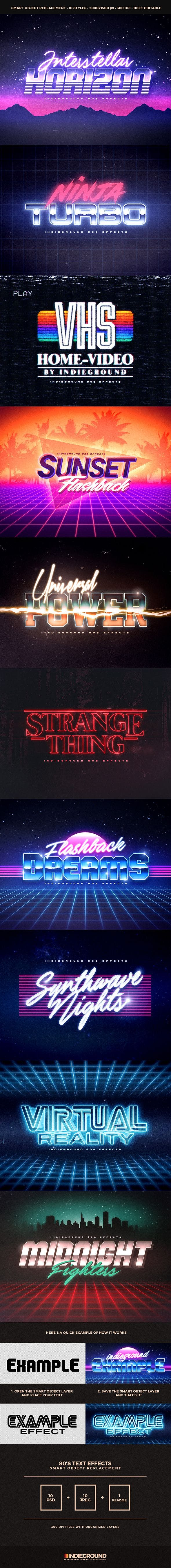 80s Text Effects - 1