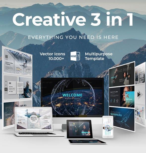 Creative 3 in 1 Bundle Powerpoint Template - 1