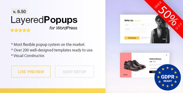 Popup Plugin for WordPress - Layered Popups - 1