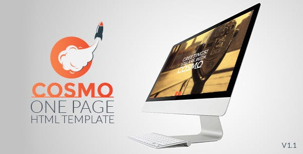 Cosmo - HTML5 One Page Template - 1