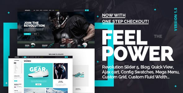 Athlete - Fluid Responsive Magento Theme - 1