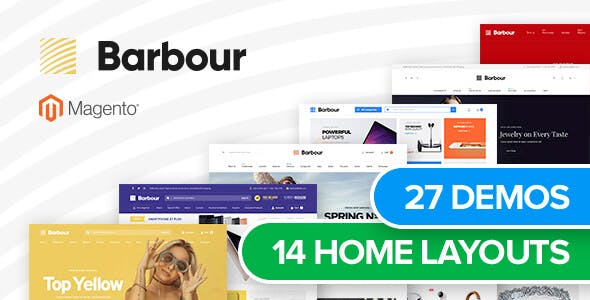Barbour - Multi-Purpose Responsive Magento 2 and Magento 1 Theme - 1