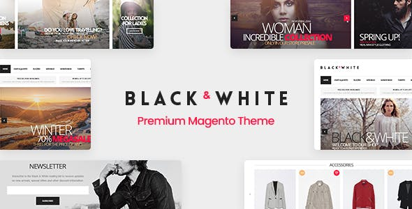 Black&White - Responsive Magento 2.2.x  and Magento 1 Theme - 1